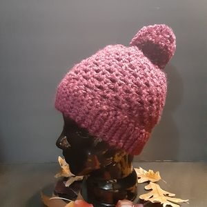 Hand made pom pom winter hat